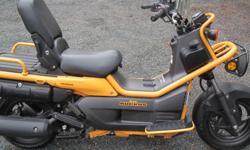 2005 Honda Big Ruckus. only 2829kms. 250cc. Runs and drives like new. 2 sets of tires (knobby and hwy) Has upgraded variable clutch/ after market adjustable rear shock. Includes windshield. This Honda scooter was only made for 2005 and 2006 so is very