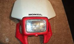 Honda original used headlight from 2001 Honda XR400R. Call Paul 250-352-7655.
