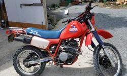 hi I have a 1985 honda xl 350R runs good and look good have papers and insured just need a littel tlc