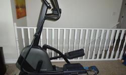 Horizon eliptical Evlove 3 purchased from Al Lloyd fitness in Nanaimo. It is in like new condition, foldable for easy storage and has numerous fitness programs as well as wireless connectivity to the Horizon fitness website. It also has mp3 connection for