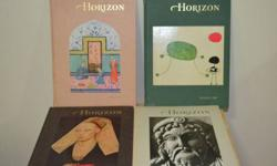 Collectors! Horizon Magazine of the Arts collection at a steal. Includes complete volumes 2, 5, 6 - 10, 12, 14-16. Other Volumes are in the set but missing one book. Most of the books are in excellent condition (with the exception of one or two that have