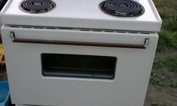 Everything works. an older basic stove that needs some cleaning.