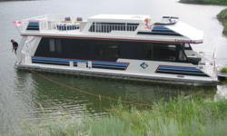 42' House Boat For Sale!!! Completely refurbished in 2005 by Twin Anchors!! 3 litre Mercursier mortor, Alpha I Drive Comes completely equipped with, fridge,freezer, furnace, water heater, waterslide, upper penthouse, sleeps eight!!   Available mid August
