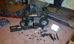 i have to sell my rc to pay rent there is well over 1200.00 worth of stuff it comes with a failsafe extra tires after market contoler roto start and charger and tones of smaller pieces all the tools you need for it it has only had one gallon of 20% just