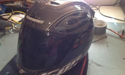 Very nice Icon Motorsports helmet. Great shape! It has 2 visors, clear and tinted. $50 OBO