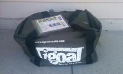 We have a number of unused iGoals for sale. New, these goals cost around $1000 and we are selling them for just $40. Perfect for anyone looking to play soccer on the go! The net inflates to solid state and can be deflated quickly for easy storage.