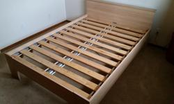 Ikea 'Malm' double bed, with slats, in very good condition. Similar to current Ikea model @$228.00: http://www.ikea.com/ca/en/catalog/products/S39027386/#/S49027395 Phone calls only to: 306-543-8526