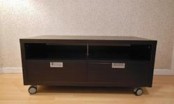 Ikea BESTA JAGRA TV Bench Stand on Castors- Beech Effect - W120 x D60 x H52 cm - used, in good condition, has some chips & scratches (see photos for condition). Assembled - $100 firm Meet at oakridge center for pickup only Delivery extra