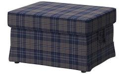 Ikea EKTORP Footstool Ottoman Cover - Rutna Multicolor (402.652.39) - brand new in package - $70 firm (slipcover only, no footstool included) CARE INSTRUCTIONS: Machine wash, warm 40°C. To be washed separately. Do not bleach. Do not tumble dry. Iron, high
