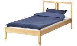Ikea FJELLSE Bed Frame with Slats - Twin - includes LUROY slatted base - hardly used, like new in excellent condition (see photos for condition). Disassembled - $90 firm (bed frame only, no mattress included) Meet at oakridge center for pickup Delivery