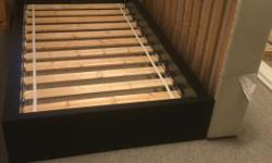 $500 new bed in very good condition...includes frame, headboard, mattress, box spring - ready for pickup!