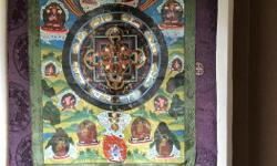 """WALL TAPESTRY FROM INDIA - 22 1/2"""" W X 38""""L"""