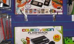 Item: We now carry the Intellivision and Coleco Vision flashback model systems. These are new but licensed products that are a mini version of the original released consoles. They come with two authentic feeling controllers and 60 games built into the