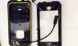 Like new lifeproof cellphone case. I bought it a month ago and realized it is a bit excessive for my lifestyle. I am too tame for this case! All in great working condition, hardly used, comes with perfect waterproof seal and headphone adaptor. Iphone5