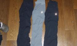 Ivivva Live To Move Pants,grey size 8,black size 8,black size 10,all in great shape, $30.00 each
