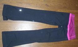 Ivivva Reversible Yoga Pants and Leggings,great shape, reversible yoga pants black size 10 $20.00, Grey leggings size 10 $20.00