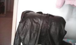 Men's leather jacket size medium
