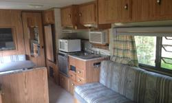 Camper for sale by 2nd owners. Would be great for first time owners or Craven goers! Awning is missing and there are a couple flaws (rips in the floor and bathroom needs a little tlc) but the body is in great condition. Can comfortably sleep 6 people -