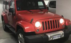 Make Jeep Model Wrangler Unlimited Year 2015 Colour Red kms 41000 Trans Automatic -Approximately 41,000km -Leather -Bluetooth -Navigation -4 door E-mail if you would like to arrange a test drive