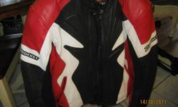Jacket is in excellent condition. Has all the padding needed, also kidney protection.  Sold the bike so no longer need the jacket. Size is XL. Asking $75 obo.