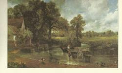 """2 framed prints approx 6.5x9"""" by JohnConstables, his most famous paintings include Dedham Vale of 1802 and The Hay Wain of 1821 ."""