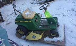 Selling my John deer 68 riding mower needs some fresh has and a tune up but did have it running and moving last summer must sell asap asking 400obo make a offer