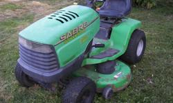 Model 1742 , 17 hsp Briggs and Stratton Engine , 42 inch deck. Hydrostatic Drive, runs great