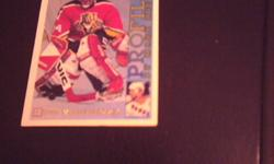 John Vanbiesbrouck, goalie, 1995 Topps Profiles PF-9 (by Mark Messier), Open to trading for a Joker (batman) card. Great condition. It was left behind during a sale. Please leave a phone #