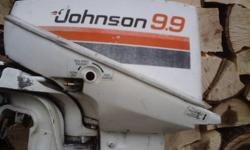 9.9  Johnson  Outboard 1979 / 80 Motor runs but not very good bottom end and water pump good cdi & coils good  has compression but main bearings a little sloppy. FOR PARTS OR REBUILD . Parts are interchangeable with evinrudes & 15 h p Motors The cdi