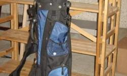 Tour Max Series golf bag in new condition. MacGregor, Burner and Wilson clubs.