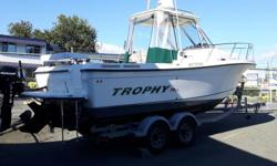 Just in M&P Nanaimo 2352 TROPHY HARD TOP FULLY LOADED just bring your rods and anchovies FEATURES * 2008 Trophy Hard Top * MerCruiser 5.0 L 260 HP only 330 Hours * Enclosed Cooling System * Cabin Heater off Motor * Power Anchor Windlass ( Lewmar ) *