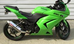 Hello, I have a modified 08 Ninja 250r for sale. Bought from Kawasaki dealer in Burnaby at 9000km. Chain lubed every 500km. Oil changed twice (every winter). Minor rash on the fender and exhaust from a drop - in pictures. I have all the original parts
