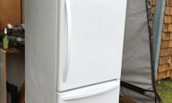 """2 years old White Bottom freezer 30""""wide,65""""tall.31""""deep In like new condition Is running and located in Errington 600.00OBO250-613-6364 text"""