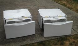 Washer and dryer pedestal drawers for below your machines. Model #57822600