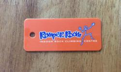 Pass for Romper Room Kids club. 8 climbs. $60