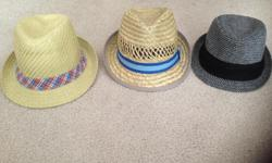 3 stylish kids hats. Size small. 2-5 years old. $5 each or 3 for $10