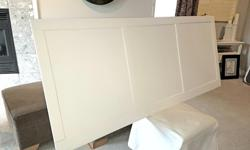 """King Size 3 panel Shaker style headboard measuring approximately 75.25"""" x 31.75"""" x 1"""" (W x H x D). Customize it for your own bed/frame or wall mount it with ease."""