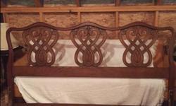 Elegant wood headboard $50 obo
