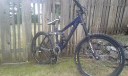 I have a KONA sticky downhill. Great bike and in decent condition. Rides awsome super nice on the trails lots of travel on the suspension. Great starter downhill. Bike is 15.5 (M) looking for $for $575
