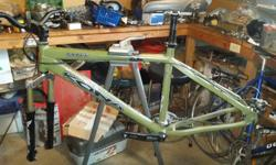 Frame and parts only. Medium. Have an extra fork, tires and a few other parts.