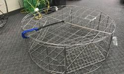 """Come by Sherwood Marine Centre and check out these very well made heavy duty stainless steel crab traps at Sherwood Marine!! Kufa CT-120 HD Stainless Steel Crab Trap - Kufa stainless steel round crab trap (o32""""x12""""h) - 3 single direction large Entrance"""