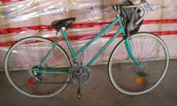 Good shape - needs new tires. Includes carry bag for front handle bars and kick stand. Tires are 25""