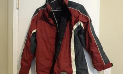 Ladies Ski Jacket (North 49) with black fleece liner. Liner can be taken out and worn separately, 3 jackets in 1, with removable hood, never worn, size small but could be med., $20. , also size med. quilted black longer winter coat, size med. $10., call