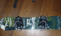 Lamar Snowboard with Lamar Bindings, size 115, great shape, bindings work great