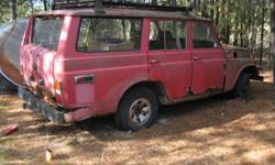 lancruiser 1979 fj 55 super rare toyoyta has a 2f 6 cyl gas engine ran smooth before i fogged it down manual tranny some good body parts frame was good many parts fit other land cruisers i have a truck and trailer can deliver 4 $ ? 900 obo