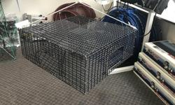 """We have some large and mini wire mesh prawn traps here in stock. - 4 entrances on all sides - Secure easily opened doors for prawns and bait - strong wire mesh design LARGE ONLY $79.95 PLUS TAX! MINI ONLY $69.95 PLUS TAX! *While Quantities Last* It's """"A"""