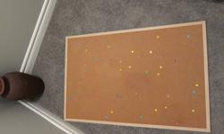 Large cork board in great shape. Comes with a varieties of pins. Asking 15$ o.b.o. Please e-mail me if interested.