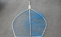 "LARGE OLDER SCOTTY SALMON NET. 31 in. or 80 cm across. In good condition. Its a house number so texting will not work. """"DO NOT"""" CALL BEFORE 8 am. OR AFTER 9:00 pm. CASH ONLY. PICKUP ONLY VIEW MAP for general location. View poster's list for this"