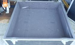 """Large Road Case (Axe Brand). Was used for mixing board. External Dimensions are 39.5""""X43""""X12"""". Internal dimensions are 36.5""""X40""""X8"""". One small dent in lid, strip of foam missing from inside of lid. Located in Duncan. Stock# C-TK C-OYS Please Note: We are"""