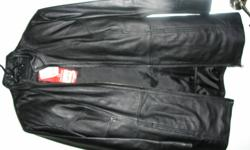 Leather coat never worn. Only asking 90.00  or best offer. Tags still on jacket. Size small.